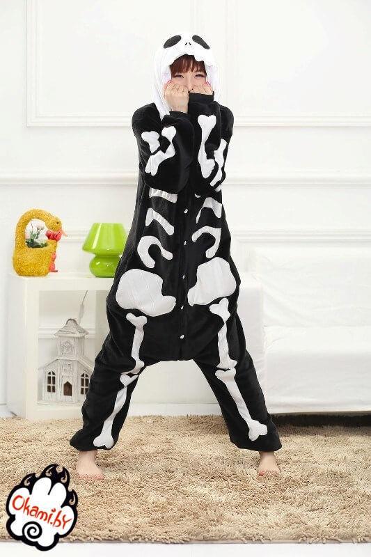 Подарок Taicang Soft Пижама кигуруми «Скелет» - фото 2