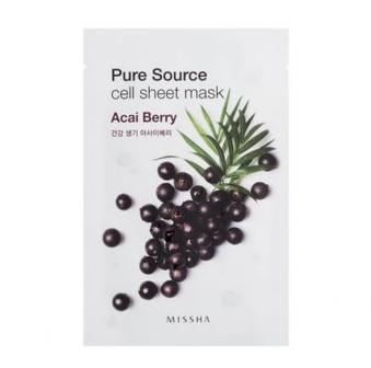 Уход за лицом Missha Маска для лица с экстрактом ягод асаи Pure Source - фото 1