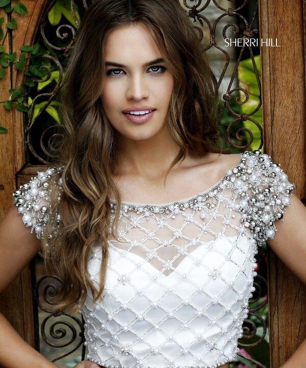 Вечернее платье Sherri Hill Кроп-топ 32309-3 - фото 7
