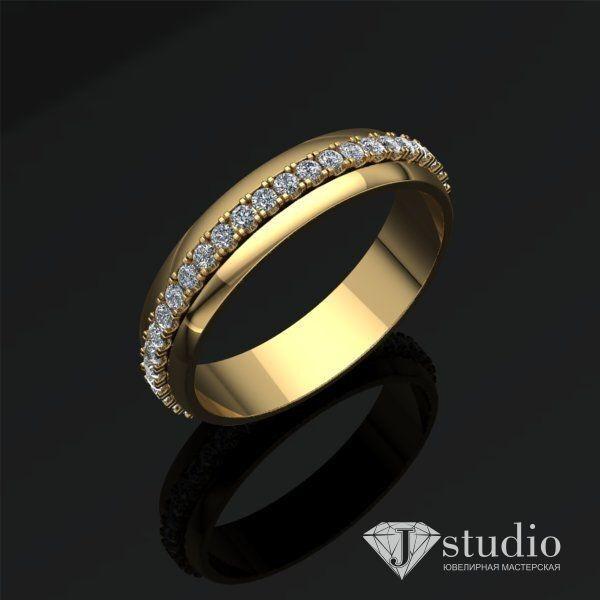 Ювелирный салон jstudio Золотое кольцо с вращающимся центром Ю-061К - фото 2