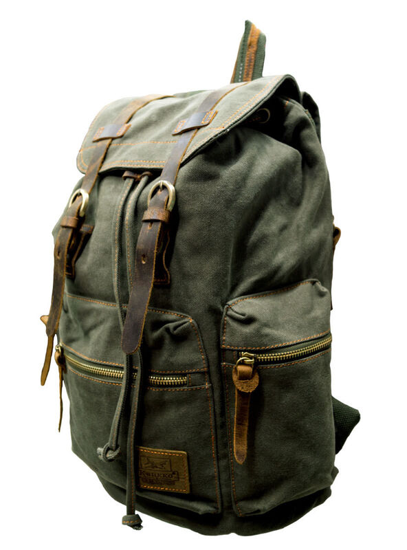 Магазин сумок Kaukko Рюкзак молодежный зеленый FP702 - фото 2