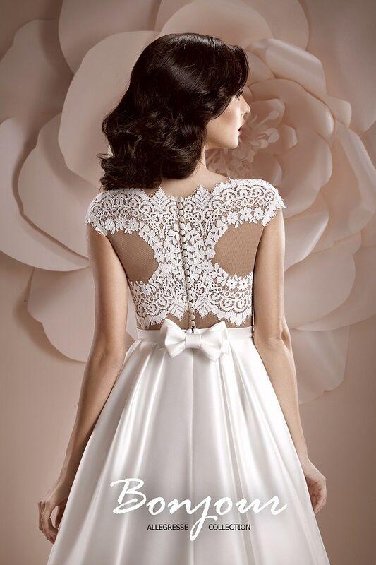 Свадебное платье напрокат Bonjour Платье свадебное «Ember» из коллекции ALLEGRESSE 2017 - фото 3