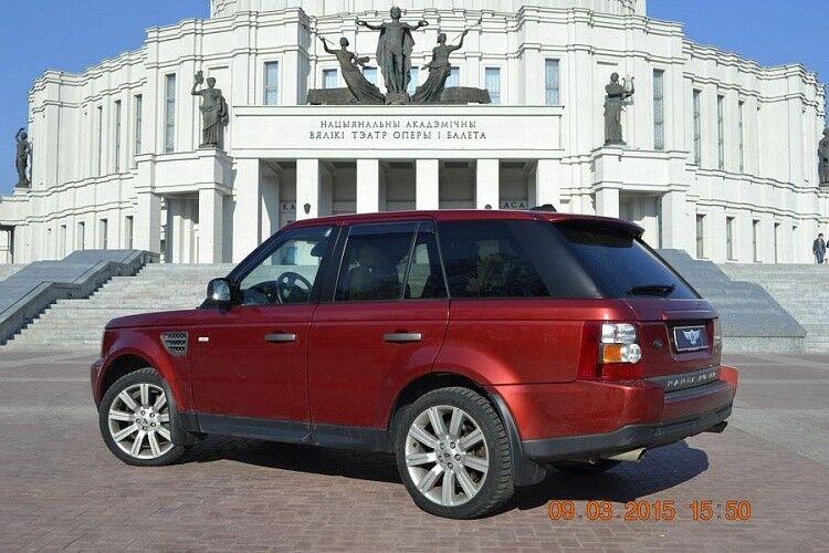 Прокат авто Range Rover Sport бордового цвета - фото 3