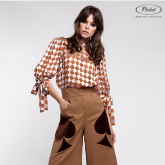 Костюм женский Pintel™ Комплект из блузы и брюк Akseli - фото 1