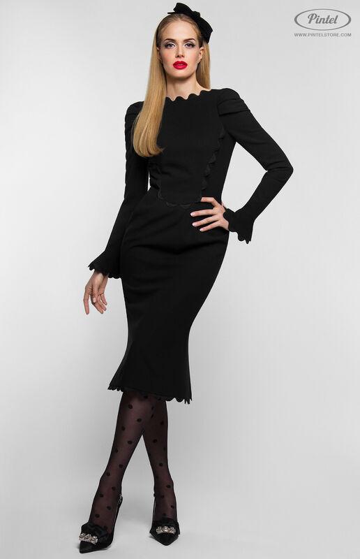 Платье женское Pintel™ Чёрное приталенное платье-футляр Janne - фото 1