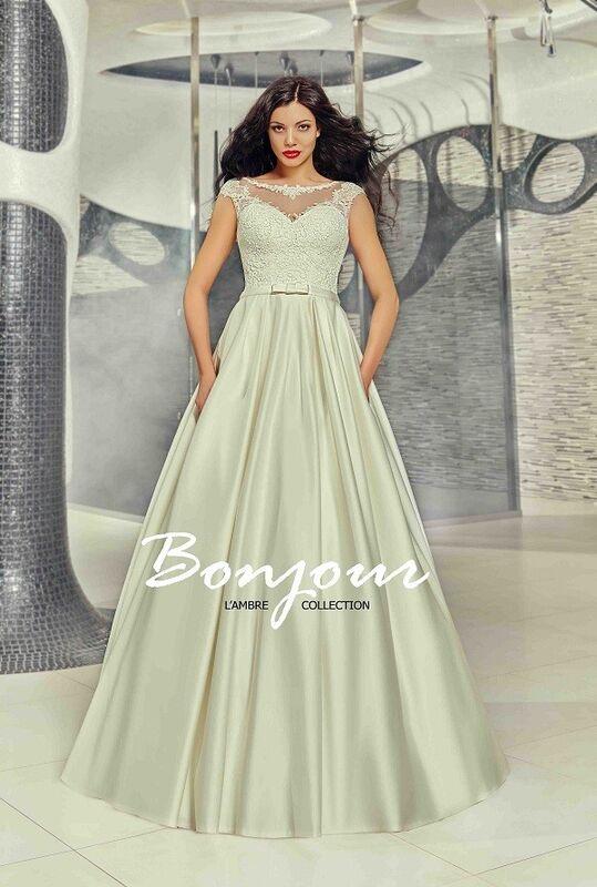 Свадебное платье напрокат Bonjour Платье свадебное «Betsi» из коллекции LAMBRE 2017 - фото 1