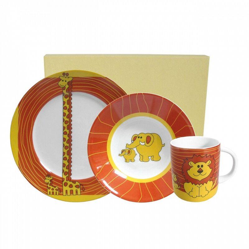 Подарок Porcel Детский набор посуды «Savana», 3 предмета - фото 1