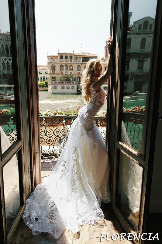 Свадебный салон Bonjour Galerie Свадебное платье Florencia из коллекции La Douceur - фото 3