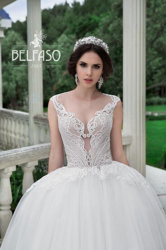 Свадебное платье напрокат Belfaso Платье свадебное Evanjelin - фото 3