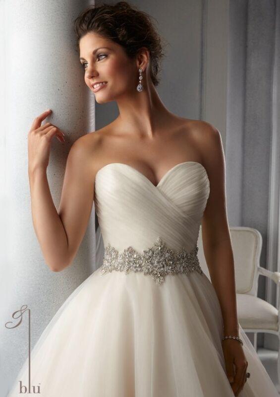 Свадебное платье напрокат Mori Lee Платье свадебное Blu 5276 - фото 3