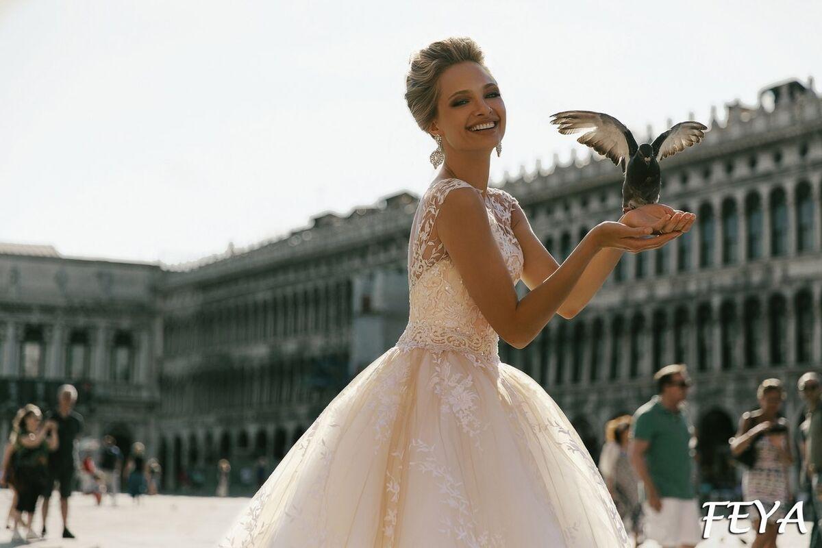 Свадебный салон Bonjour Galerie Свадебное платье Feya из коллекции La Douceur - фото 3