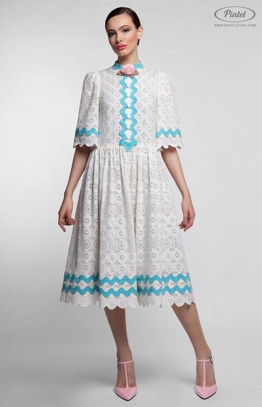 Платье женское Pintel™ Миди-платье свободного силуэта Farzana - фото 2