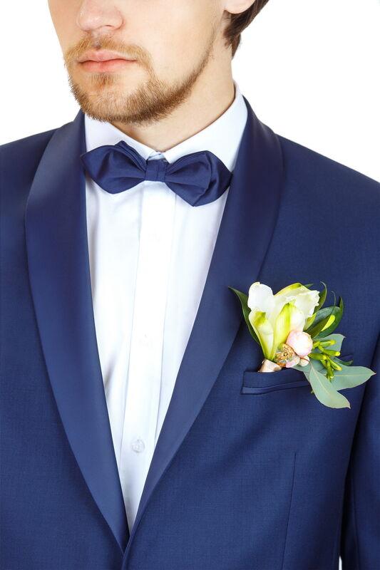 Костюм мужской HISTORIA Костюм смокинг мужской темно-синий H01 - фото 3