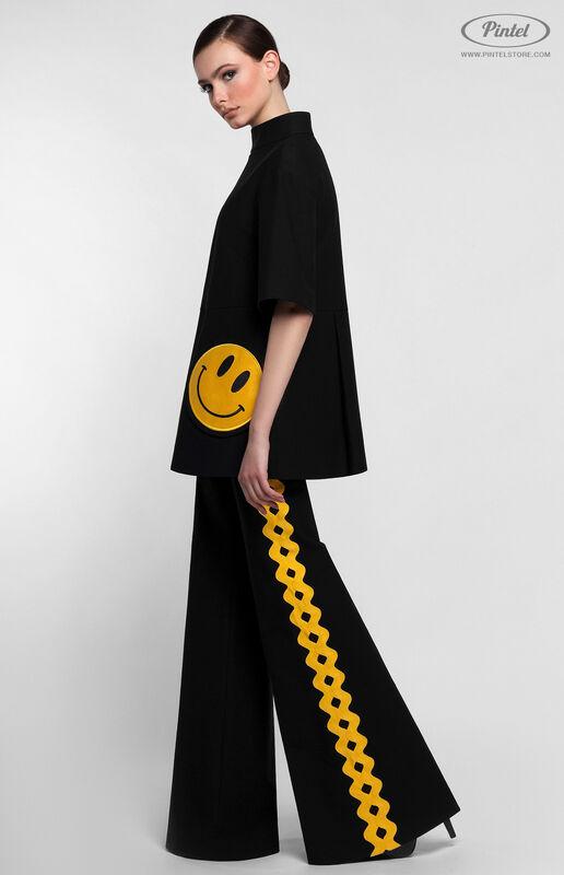 Костюм женский Pintel™ Чёрный костюм из туники и брюк KARISSA - фото 4