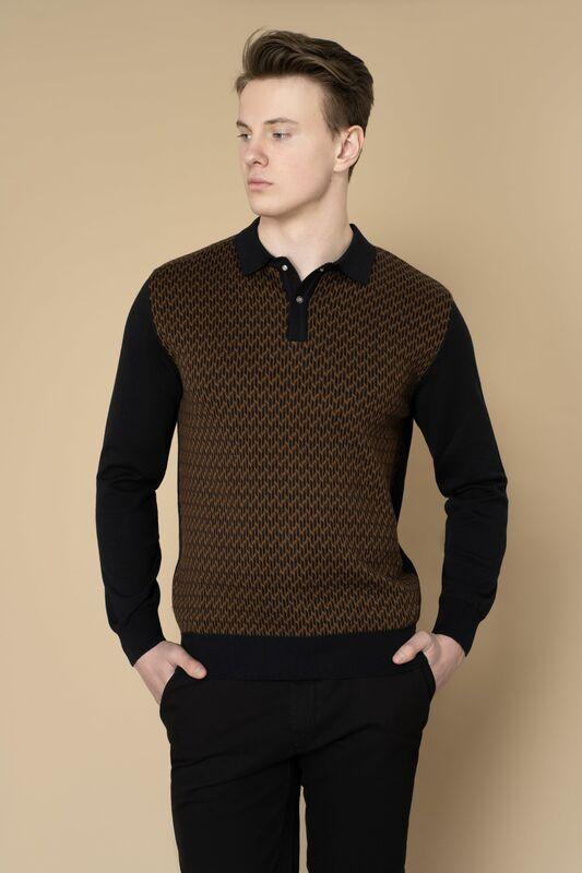 Кофта, рубашка, футболка мужская Etelier Джемпер мужской  tony montana 211395 - фото 5