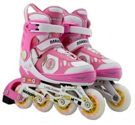 Роликовые коньки Maxcity Роликовые коньки раздвижные с комплектом защиты Little Rabbit Pink - фото 1
