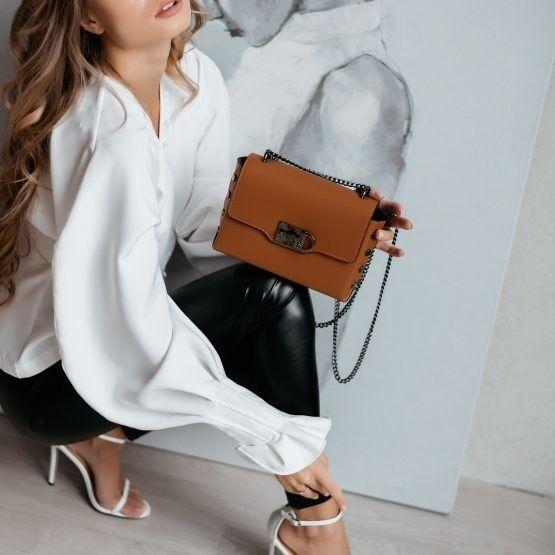 Магазин сумок Vezze Кожаная женская сумка C00565 - фото 1