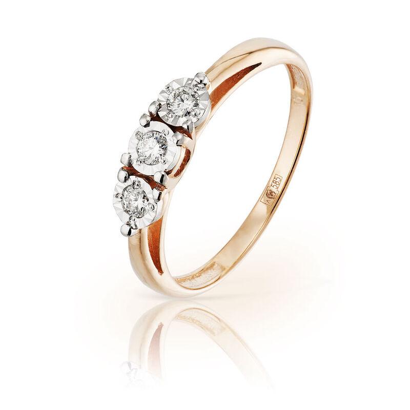 Ювелирный салон Jeweller Karat Кольцо золотое с бриллиантами арт. 3212451/9 - фото 1