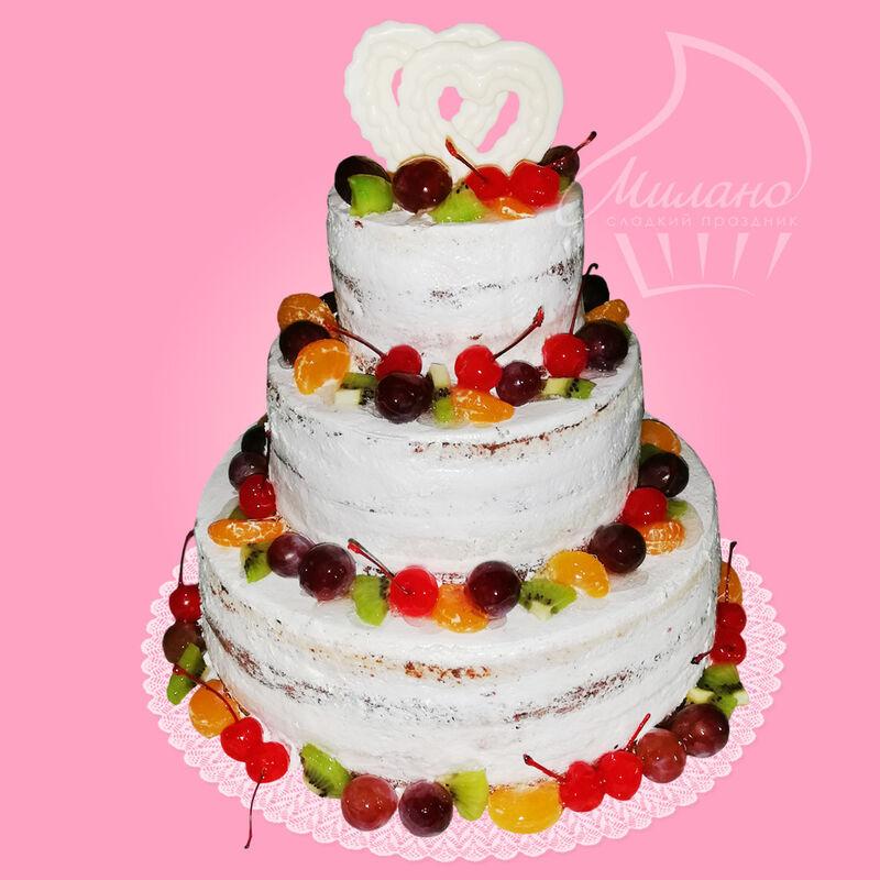 Торт Милано Свадебный торт №15 - фото 1