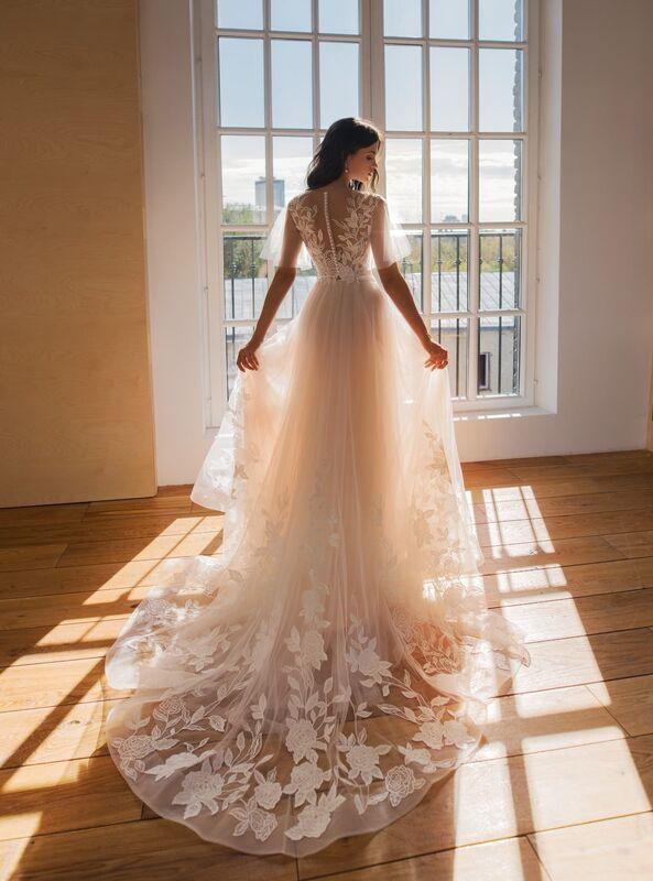 Свадебное платье напрокат Natalia Romanova Свадебное платье  Ester - фото 2