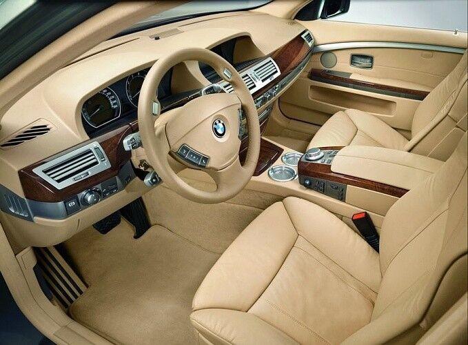 Прокат авто BMW E66 7 series черного цвета - фото 5