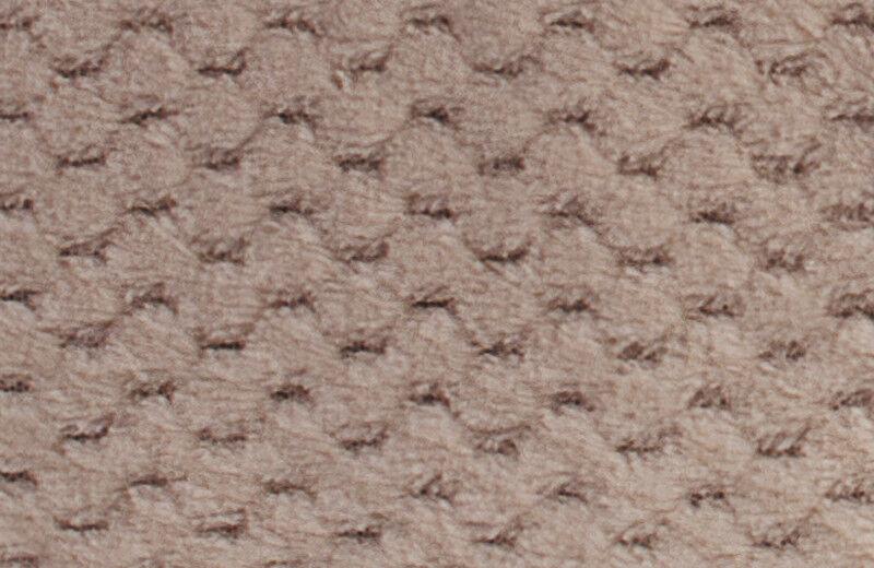 Подарок Ecotex Декоративный флисовый плед 180х200 Elegance Бежевый - фото 4