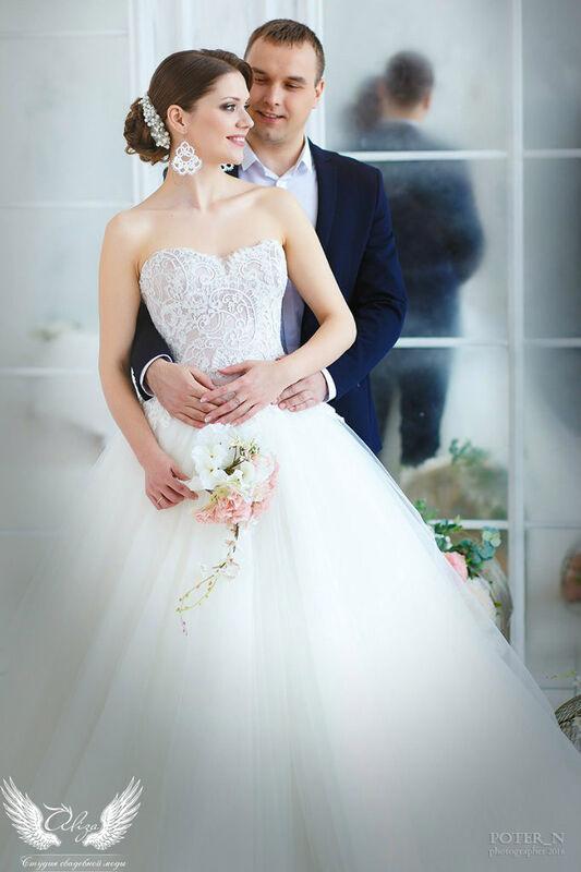 Свадебное платье напрокат ALIZA Платье свадебное «Amor» Soffito - фото 4