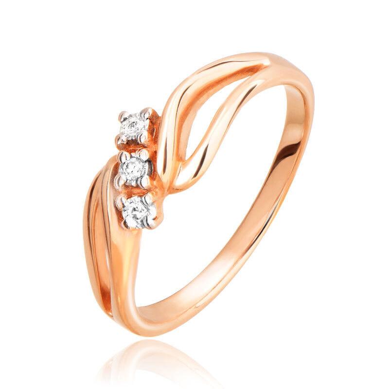 Ювелирный салон Jeweller Karat Кольцо золотое с бриллиантами арт. 3212728/9 - фото 1