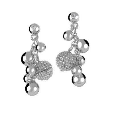 Ювелирный салон Hot Diamonds Серьги серебряные DE207 - фото 1