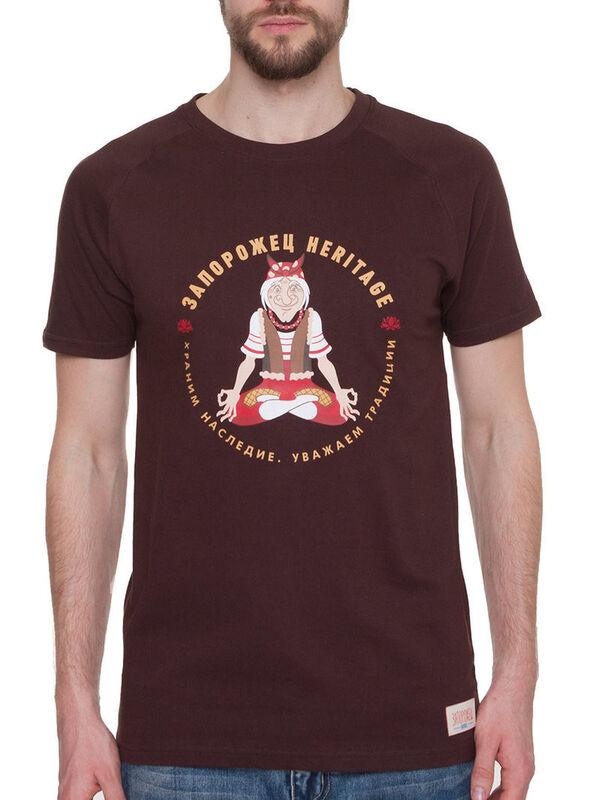 Кофта, рубашка, футболка мужская Запорожец Футболка «Yoga» SKU0118000 - фото 1
