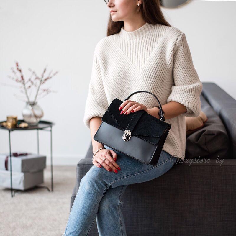 Магазин сумок Vezze Кожаная женская сумка C00436 - фото 2
