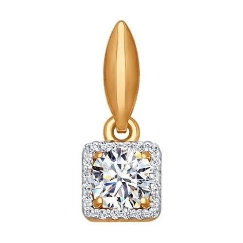 Ювелирный салон Sokolov Подвеска из золота с фианитами 034766 - фото 1