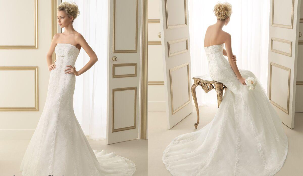 Свадебное платье напрокат Rosa Clara Платье свадебное Evita - фото 2