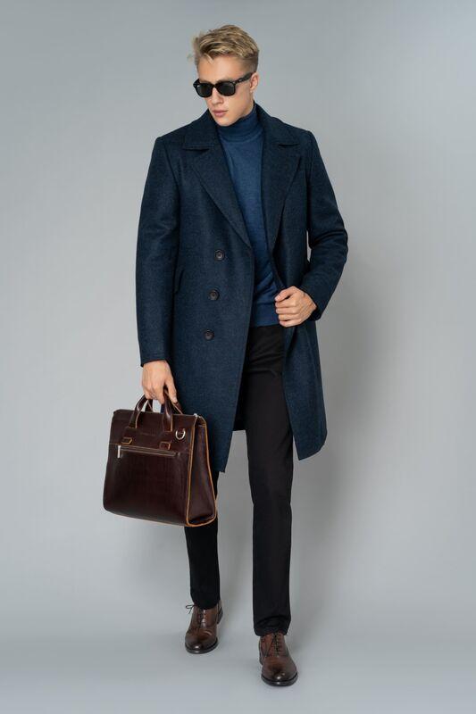 Верхняя одежда мужская Etelier Пальто мужское утепленное 6М-9103-1 - фото 5