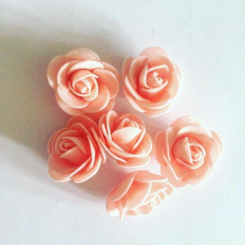 Товар для рукоделия Sofi Collection Цветы из фоамирана «Роза» персиковая - фото 1