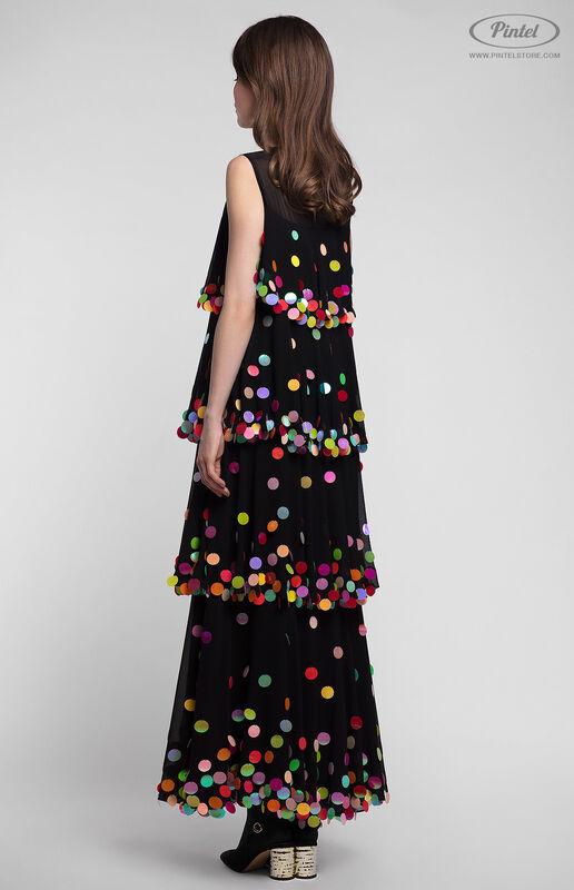 Платье женское Pintel™ Макси-платье А-силуэта без рукавов с воланами Ornela - фото 2