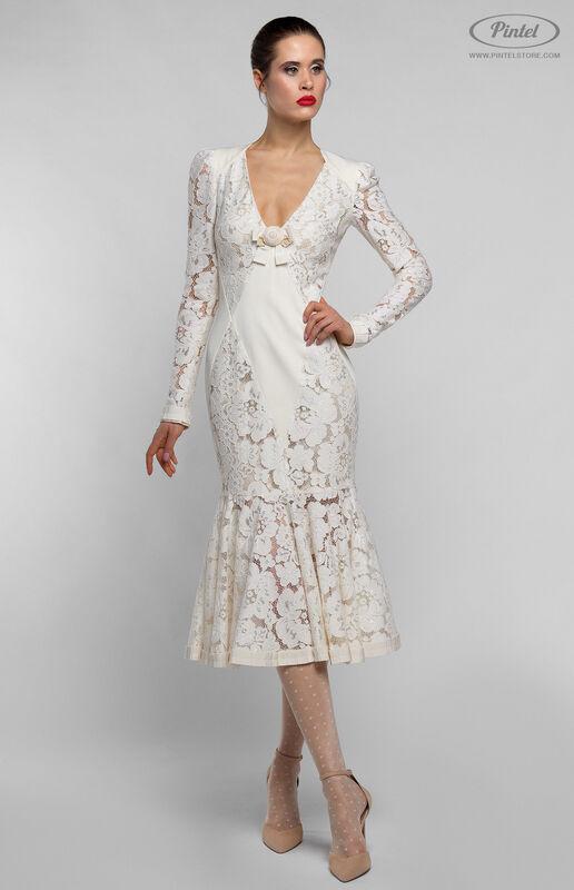 Платье женское Pintel™ Приталенное миди-платье MAURINNIKA - фото 1