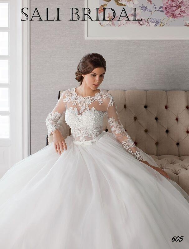 Свадебный салон Sali Bridal Свадебное платье 605 - фото 2