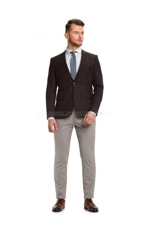 Пиджак, жакет, жилетка мужские Keyman Пиджак мужской коричневый меланж - фото 2