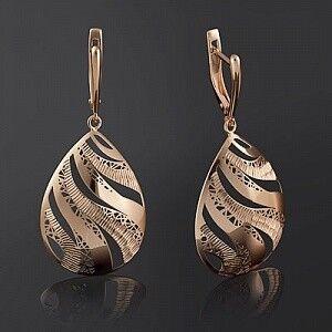 Ювелирный салон Платина Серьги золотые 02-3813-00-000-1110-48 - фото 1