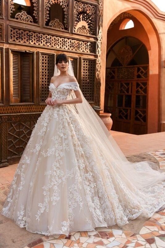 Свадебное платье напрокат Crystal Платье свадебное Magenta - фото 1