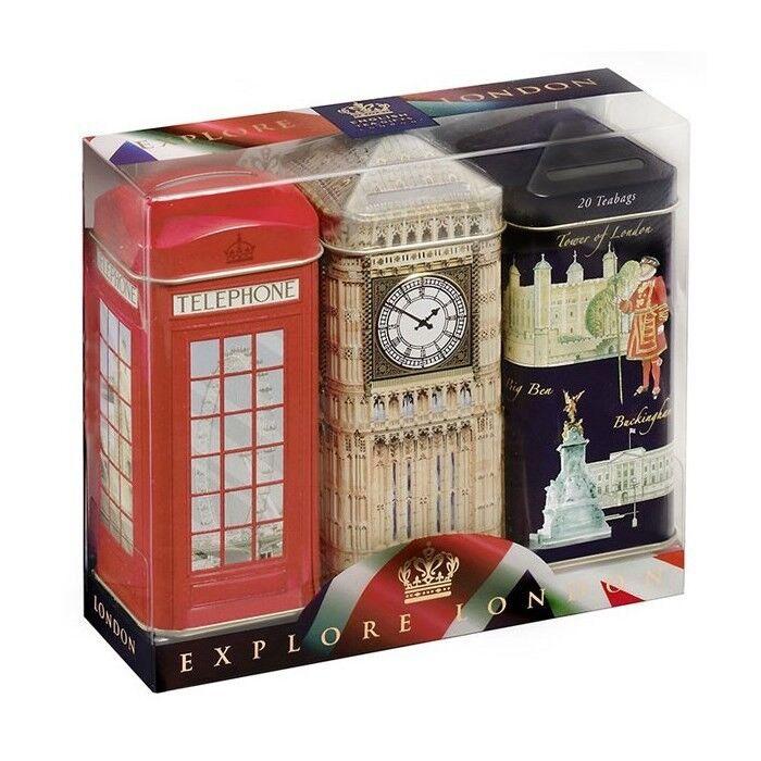 Подарок Ahmad Чайный набор «Достопримечательности Лондона» в жестяной копилке, 120 гр - фото 1