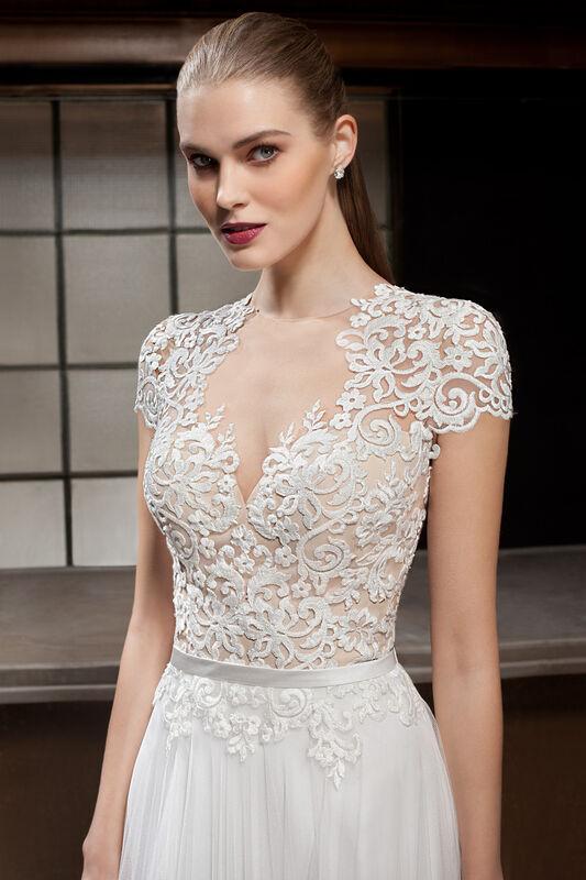 Свадебное платье напрокат Cosmobella Свадебное платье 7844 - фото 3