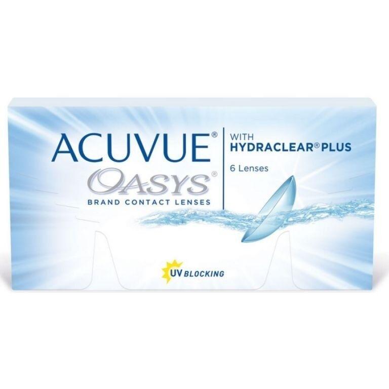 Линзы Johnson & Johnson Контактные линзы Acuvue Oasys With Hydraclear Plus - фото 1