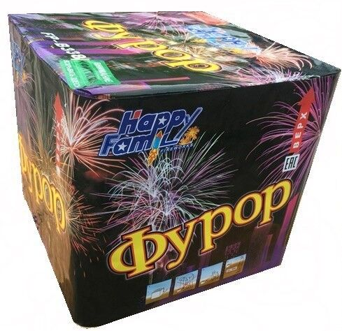 Фейерверк HappyFamily Батарея салютов «Фурор» FP-B338 - фото 1