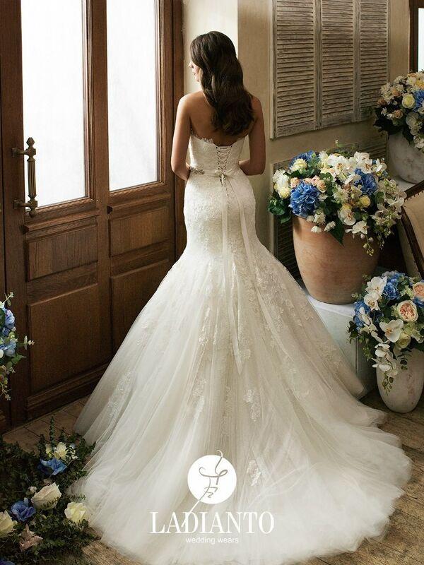 Свадебное платье напрокат Ladianto Платье свадебное Adelina D-7102 Abelarda - фото 2
