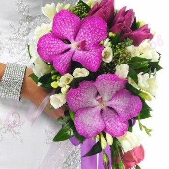 Магазин цветов Ветка сакуры Свадебный букет № 86 - фото 1