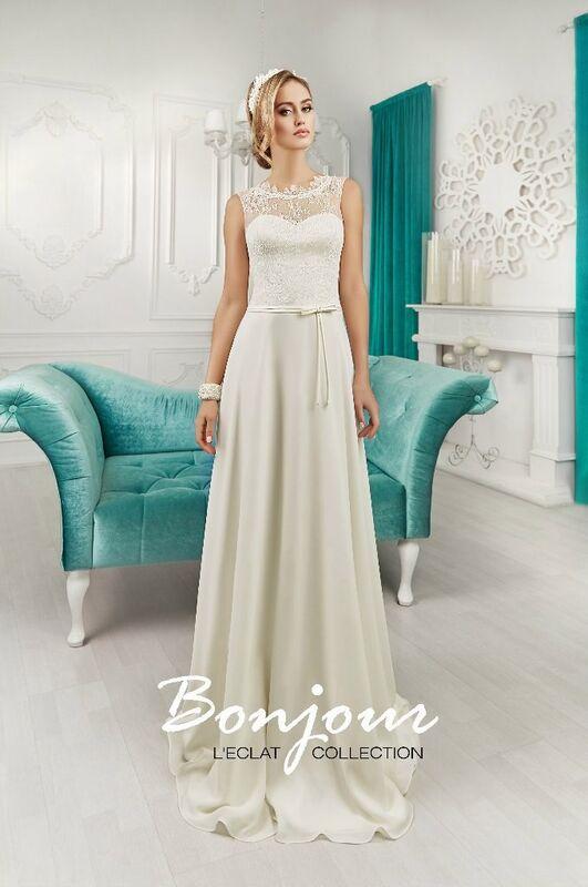 Свадебное платье напрокат Bonjour Платье свадебное «Miranda» из коллекции L'ECLAT 2016 - фото 1