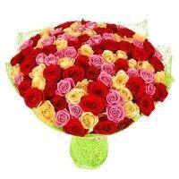 Магазин цветов Ветка сакуры Букет из роз № 17 (101 роза) - фото 1