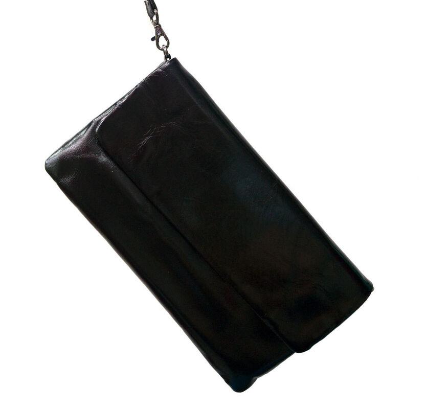 Магазин сумок Rozan Клатч женский черный 3208 - фото 1